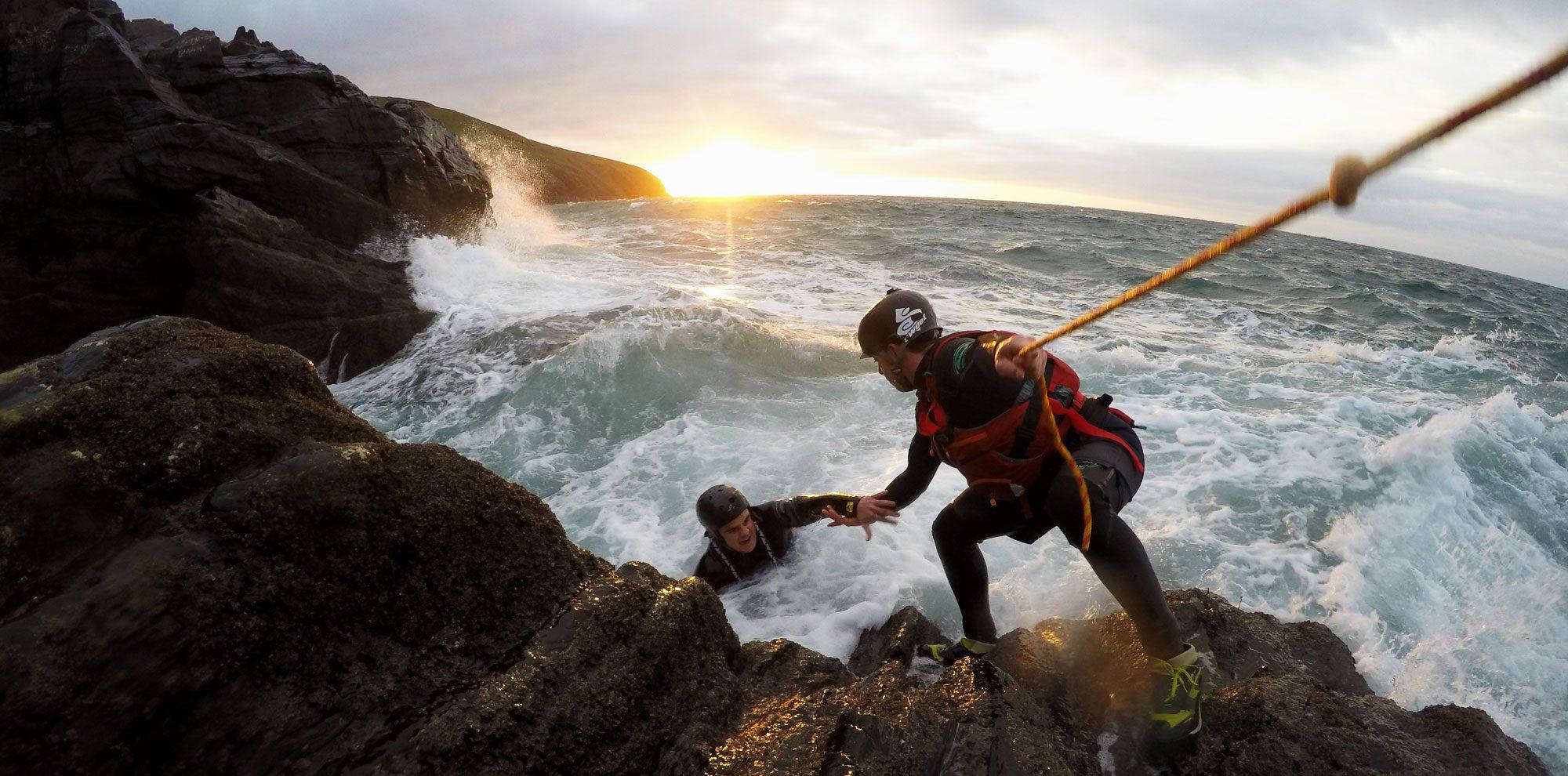Coasteering on the Isle of Wight