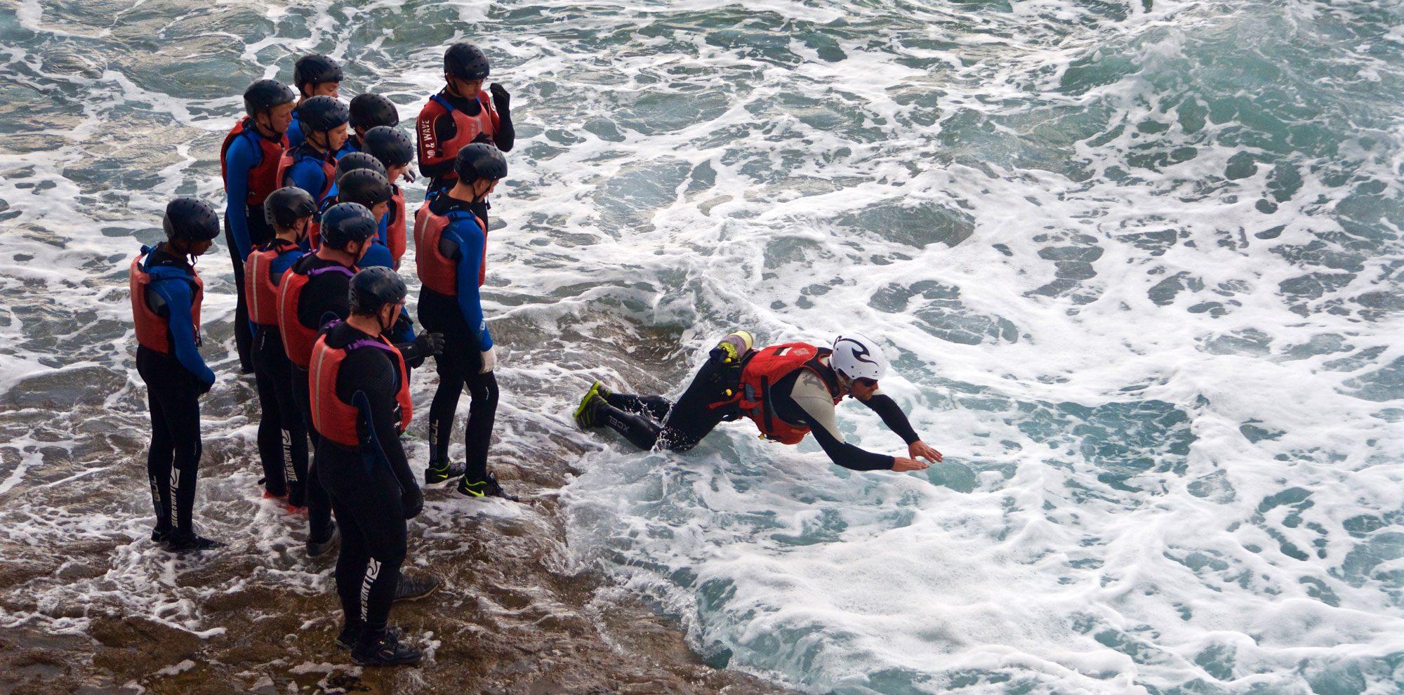 Coasteering in South Wales